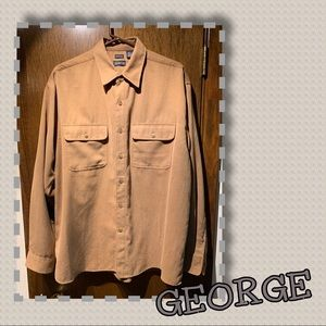 🆕George Sueded Button-down Shirt🔶